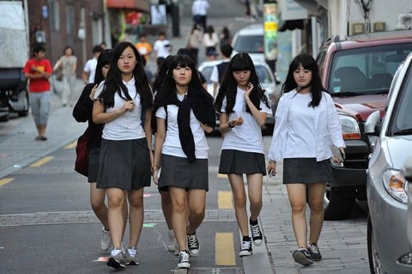 Đồng phục nữ sinh Châu Á Trang phục Hàn Quốc